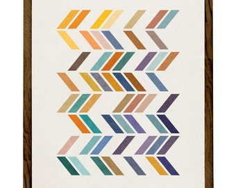 Slanted 2. Nordic design Retro poster Scandinavian art geometric print modern print abstract print geometric art nordic print. LD10009