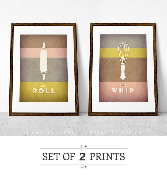 Arte della cucina. Set di 2 stampe. Cucina stampa. Regalo | Etsy