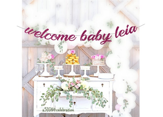 Welcome Home Baby Banner Custom Homecoming Arrival Party Shower