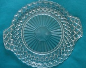 Waterford Waffle cake plate serving dish by Anchor Hocking