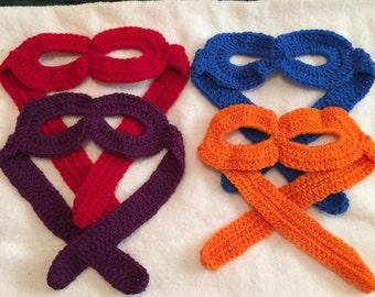 Crochet Ninja Turtle Masks (Set of 4)