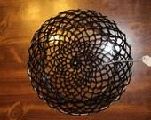 Hand-Crocheted Black Cott...