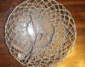 Hand-Crocheted Light Gray...