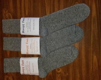 Mens Wool Socks -  natural grey shetland wool