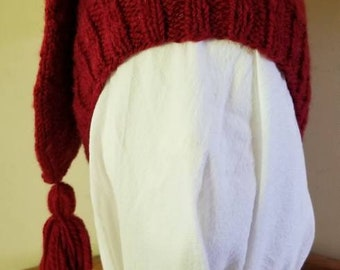 Turkey Red Shetland Wool Voyaguer Toque Sleeping Cap