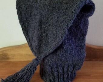 Gun-Metal Blue Shetland Wool Voyaguer Toque Sleeping Cap