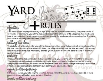 Lively image intended for yahtzee rules printable