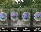 4th of July Birthday Party Beverage Cups Plastic Drink Owls Fireworks Boy Girl 1st 2nd 3rd 5th 6th Boogie Bear Invitations Blakeley Theme