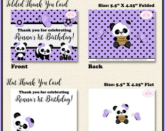 Pink Panda Bear Birthday Party Banner Small Black Blue Green Tropical Jungle Stripe Girl 1st 2nd 3rd Boogie Bear Invitations Jeanette Theme