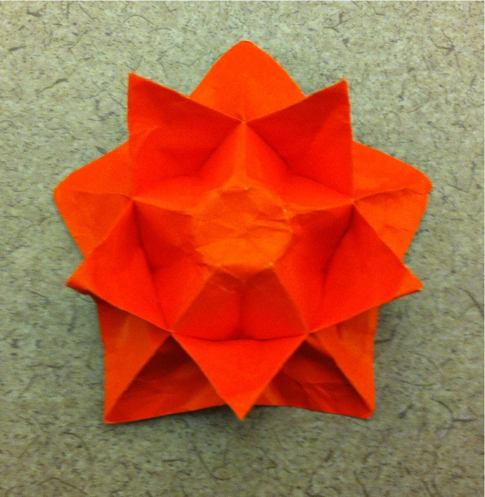 Double Sided Origami Star Flower Etsy