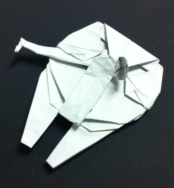 Origami Millennium Falcon Etsy