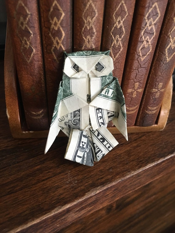 1 dollar owl , DIY | Money origami, Dollar bill origami, Dollar origami | 760x570