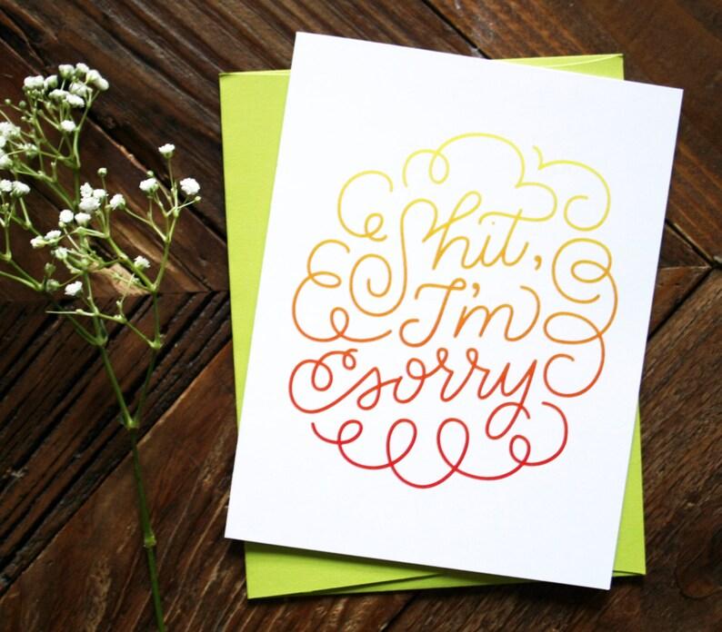 I'm Sorry  Sympathy Greeting Card image 0
