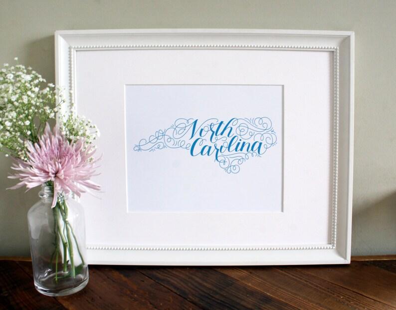 North Carolina Home State Love Art Print image 0