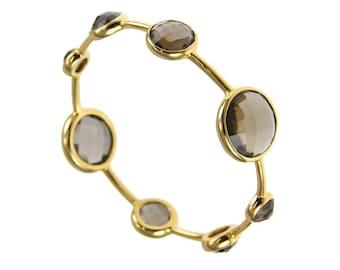 Smoky Quartz Bangle - Stackable Bangles - Gemstone Bangles - Gemstone Bracelet - Gold Bangles - Birthstone Bangles - Birthstone Bracelet