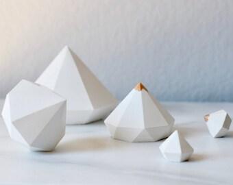 Set of 3 Concrete Diamonds