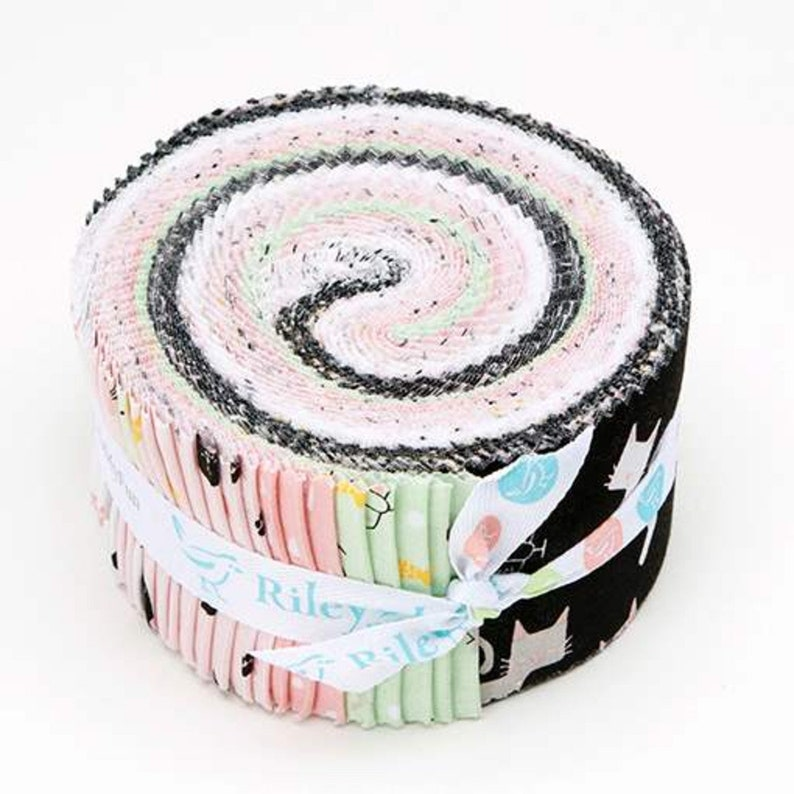Rolie Polie 5 Stackers 2 items in listing Meow and Forever by My Mind/'s Eye for Riley Blake