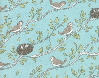 Nest Robins Egg 5061 15 by Lella Boutique for Moda Fabrics - Quilt, Quilting, Crafts