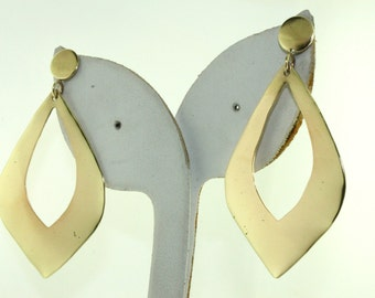 Gold Plated - Women's Hand Crafted Dangle Earrings