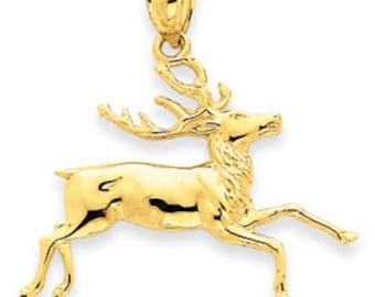 Deer Running Pendant (JC-1030)