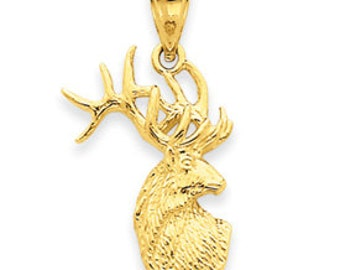 Polished Deer Head Charm (JC-1017)
