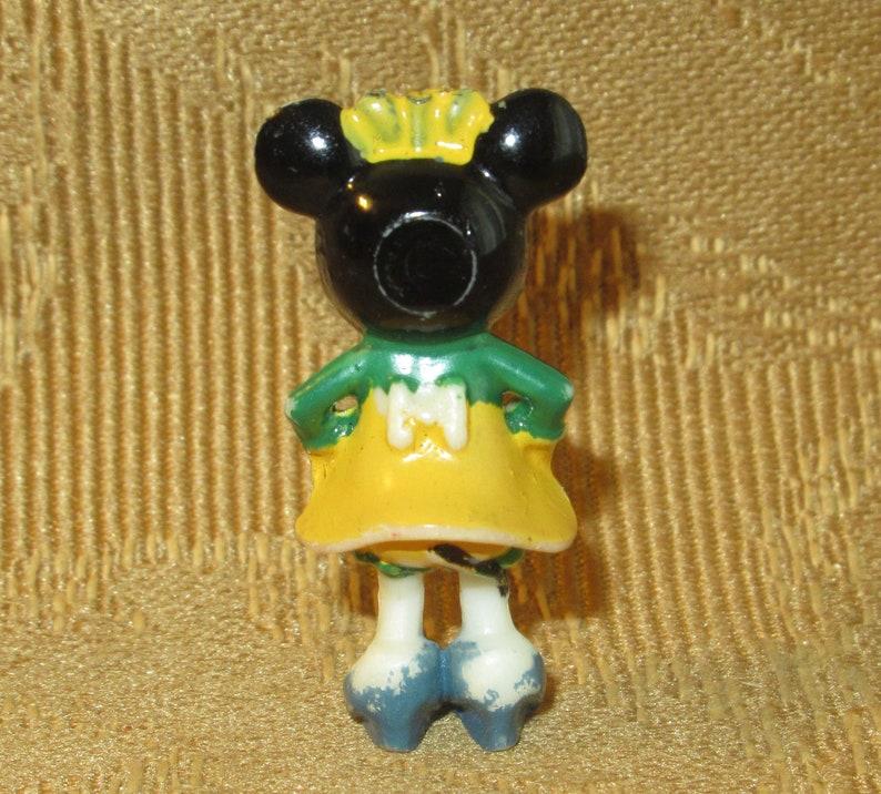 Minnie Mouse Marx Disney On Parade Disneykins Vintage Plastic Playset Figure