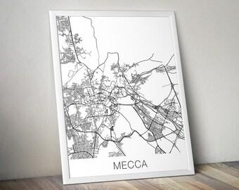 Mecca Map Print