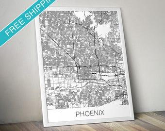 Phoenix Map Print