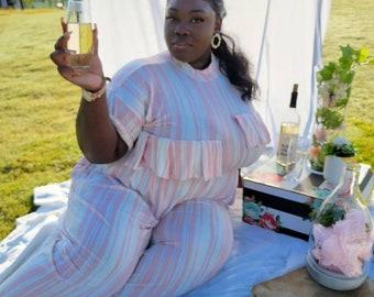 Don't Make Me Blush: Pleated Wide Leg Lounge Pant