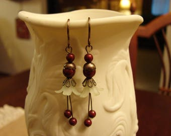 These Are The Berries Christmas Earrings! Swarovski Crystal!