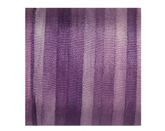 Pure Silk Ribbon 4mm Purple  Embroidery Variegated Hand Dyed Violet 3mtr