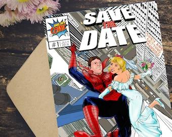 Comic wedding invite | Etsy