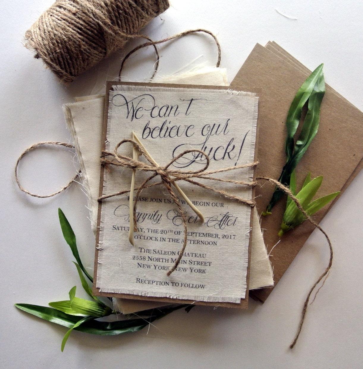Make Your Own Wedding Invites Ideas: Rustic Wedding Invitation Lucky Wishbone Wedding