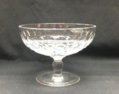 Vintage Colleen Short Stem Round Compote WATERFORD CRYSTAL Thumbprint Diamond Cut Clear Crystal Stemmed Dish Bowl
