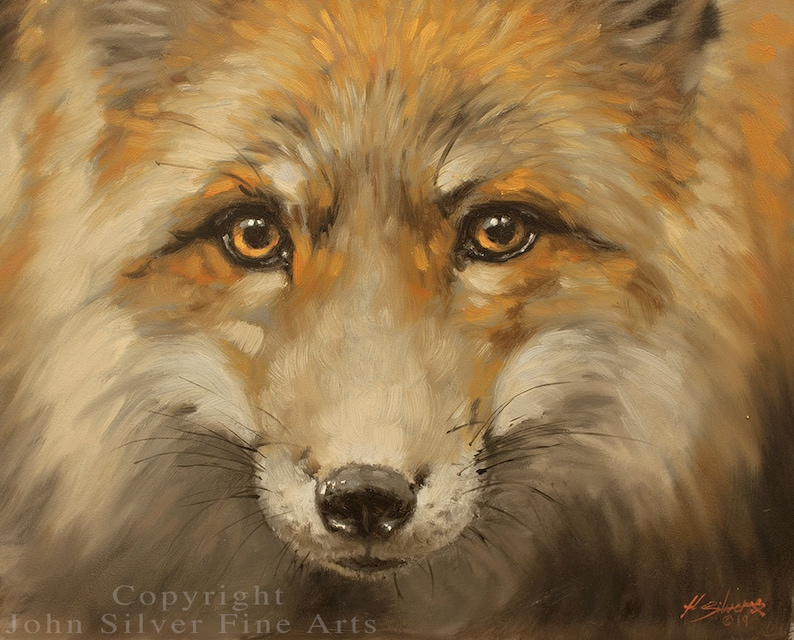 Fox Portrait. Original Classical Oil Painting by award winning image 0
