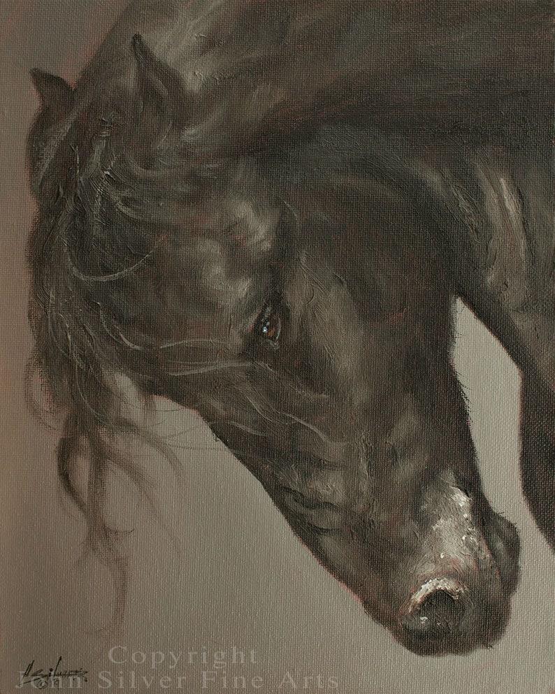 Horse Portrait. Original Oil Painting by award winning British image 0