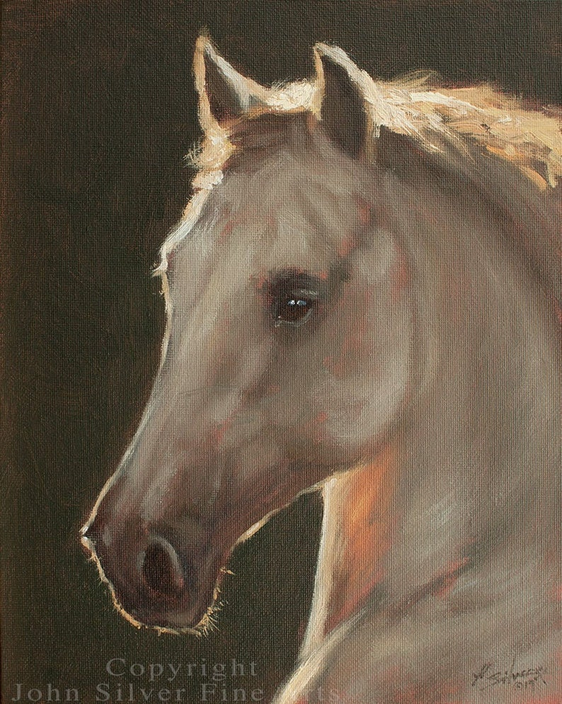 Horse Portrait. Original Oil Painting by award winning British image 0