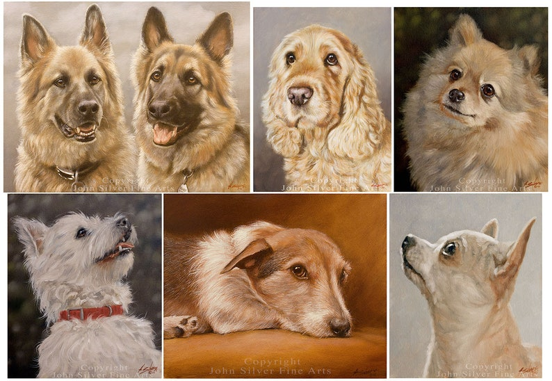 Custom Pet Portrait Head & Shoulders Dog Oil Painting by award image 0