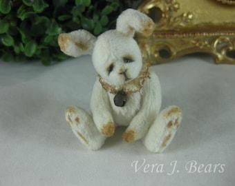 "3"" Miniature Artist Bunny Rabbit for Bear or Doll Handmade  by Vera J.Bears"
