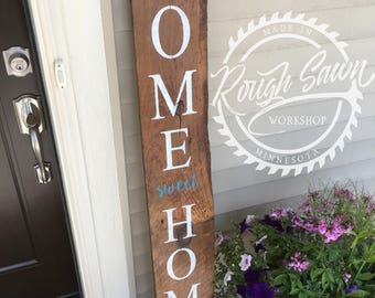 Home Sweet Home Reclaimed Barnwood Porch Sign
