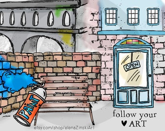 High Street digi stamps #2