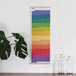 2019 calendar Wallplanner Rainbow colours Wall Decoration Poster Color Print 2019 Annual overview office planner FRAME NOT INCLUDED