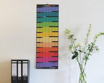 Perpetual Calendar Everlasting birthday calendar – ONLY IN GERMAN – Wall Planner indefinitely in memoriam remember german