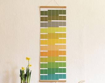 Perpetual Calendar EVERGREEN Calendar of Events Memory Memories Designcalendar (Frame NOT included!)