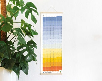 """2022 Calendar Wallplanner Planner """"Blue Hour"""" 2022 Limited Edition English + German FRAME NOT INCLUDED"""