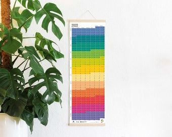 2022 Calendar Wallplanner Rainbow colours Wall Decoration Poster 2022 FRAME NOT INCLUDED english & german printed on both sides