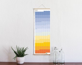 """2021 Calendar Wallplanner Planner """"Blue Hour"""" 2021 Limited Edition English + German FRAME NOT INCLUDED"""