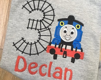 Personalized Thomas the Train Birthday Shirt