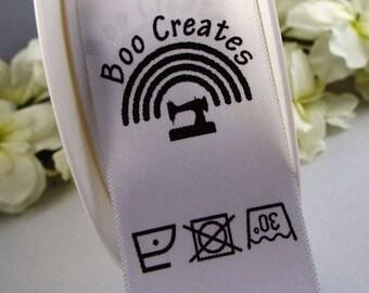 25mm Custom Printed Sew In Loop Labels