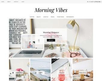 "Wordpress Theme ""Morning Vibes"" | Responsive Magazine Style Premade Wordpress Design Ecommerce Woocommerse Website Shop"